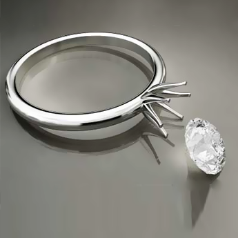 ring with missing diamond